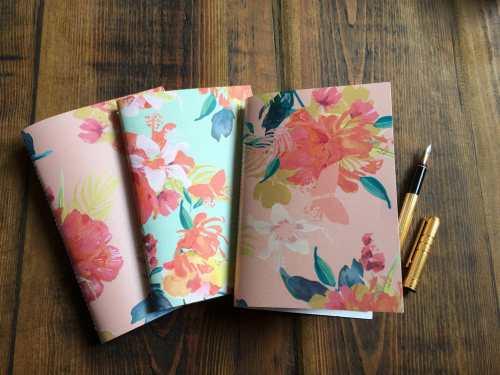 Yesihaveablog   The Writing Room Easy Store   Handmade Tropical Flowers Notebook