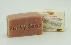 Funky Soap London solid shampoo bar acai berry