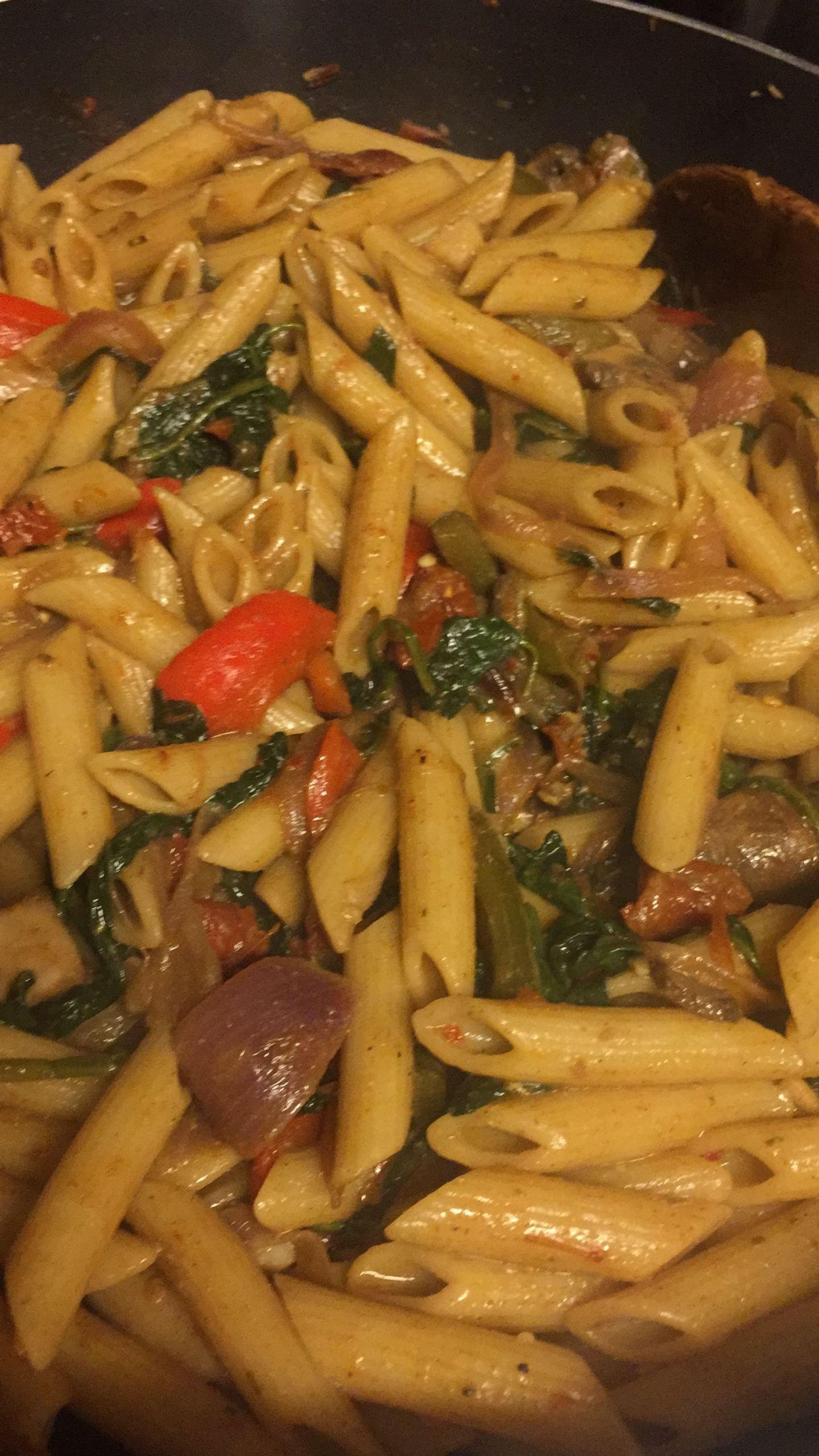 vegan jerk pasta - How Going Vegan Changed My Life - YesIMadeMyDress
