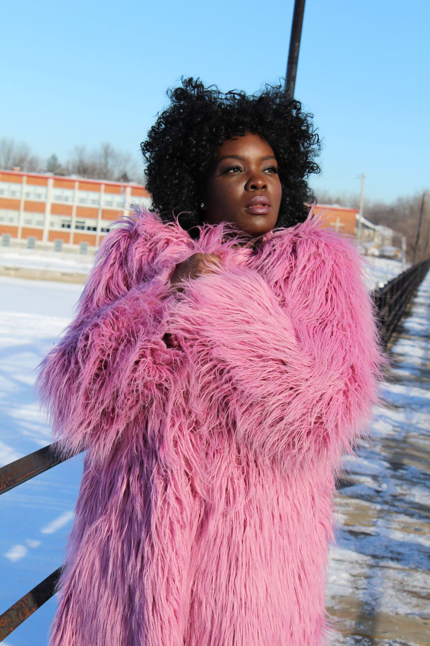 DIY Faux Fur Coat - YesIMadeMyDress.com