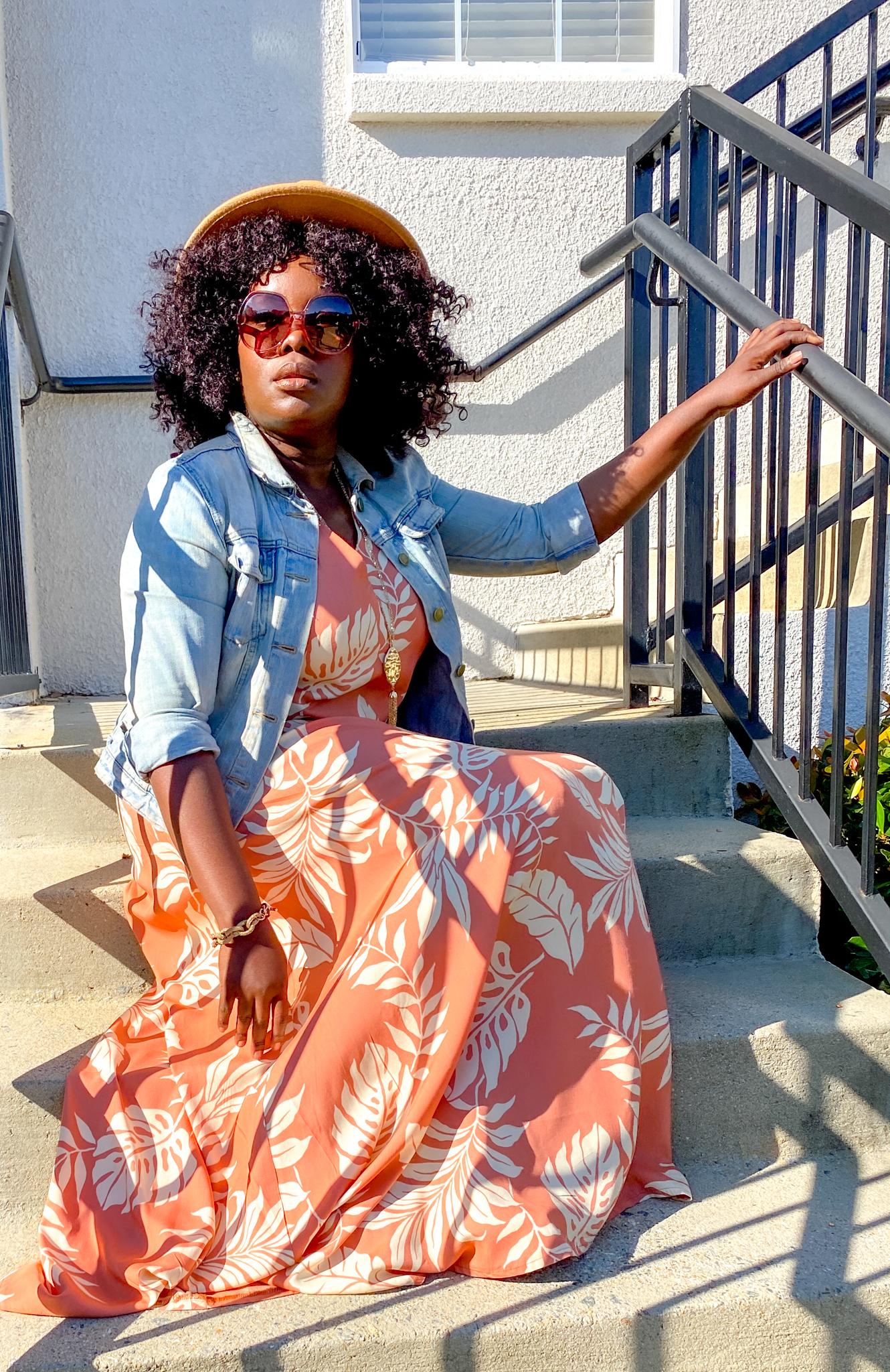 YesIMadeMyDress IVIYE Goddess Gown monstera print dress
