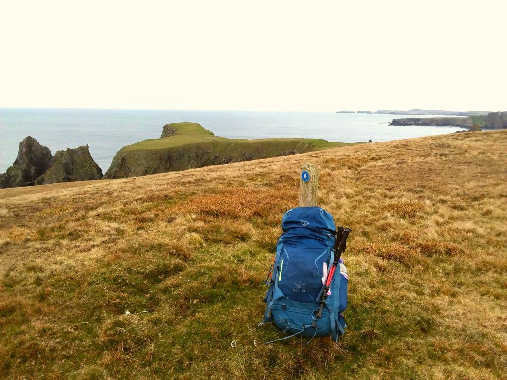 My Osprey pack - Hiking in Shetland