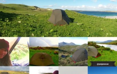 Wild camping in Scotland montage