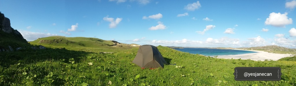 Outer Hebrides, wild camping in Scotland