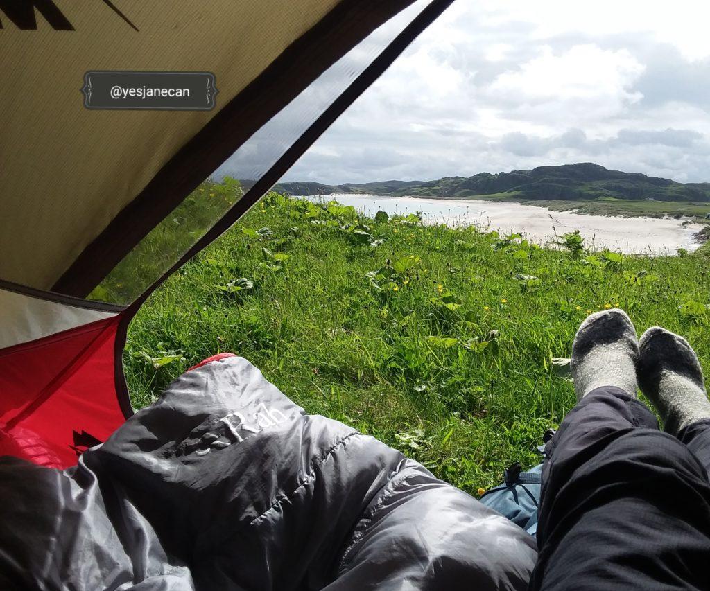 Uig, wild camping in Scotland
