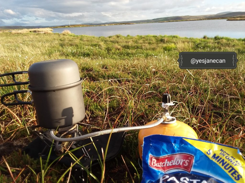 Wild camping in Scotland - food