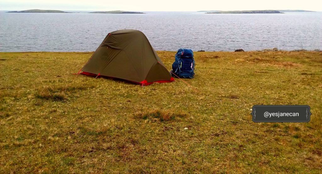 Whalsay, Shetland - wild camping in Scotland