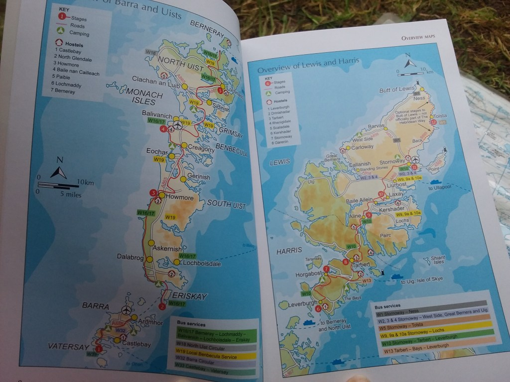 Map from the Cicerone Walking the Hebridean Way guidebook