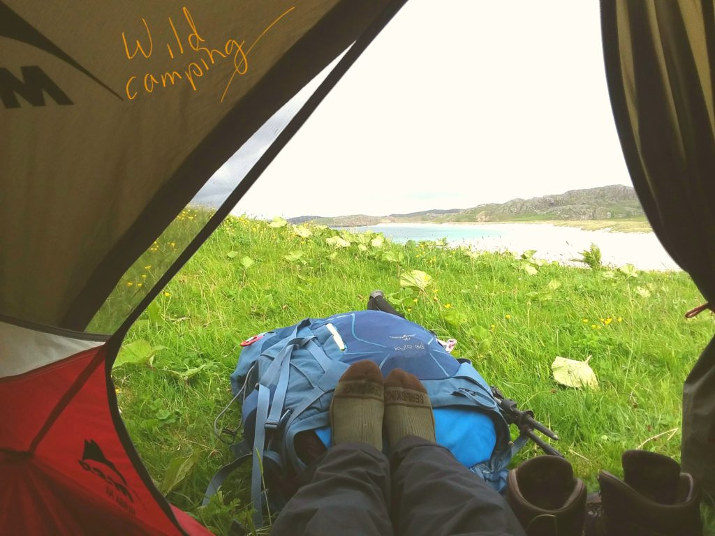Walking the Timeline of Britain - Resting the foot at a beach in Uig, Lewis