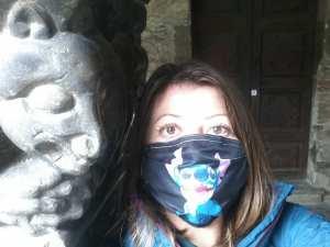Me masked up