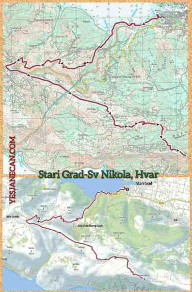Hvar Hiking Trails - Stari Grad to Sv Nikola