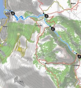 Hiking Kotor's Ladder map