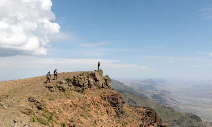 Tribal stewards explore Steens Mountain. Photo by Sage Brown.