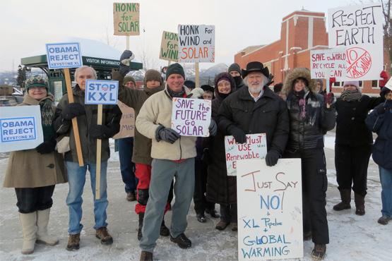 350 rally in Montana. Photo courtesy 350.org.