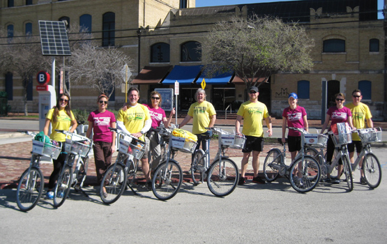 The San Antonio Bikes Team. Photo by San Antonio Office of Sustainability.