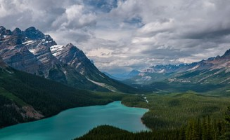 Banff Mountains by Charles Peterson