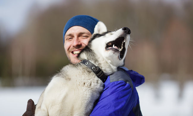 Man with Dog photo from Shutterstock