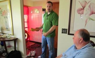 Blower door test.