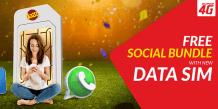 Jazz FREE Social Bundle 4GB With Every New Data SIM