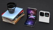 Apple foldable iPhone Concept design based on leaks adopts a flip design