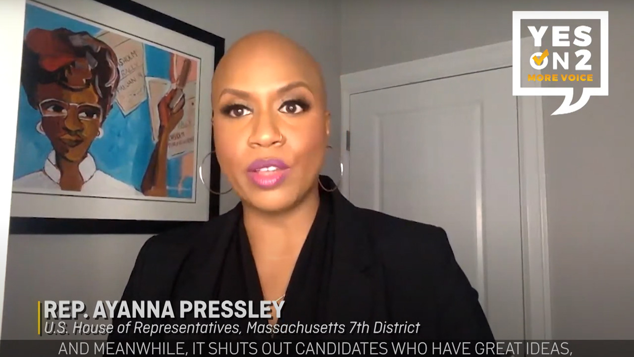 Ayanna Pressley supports Yes On 2