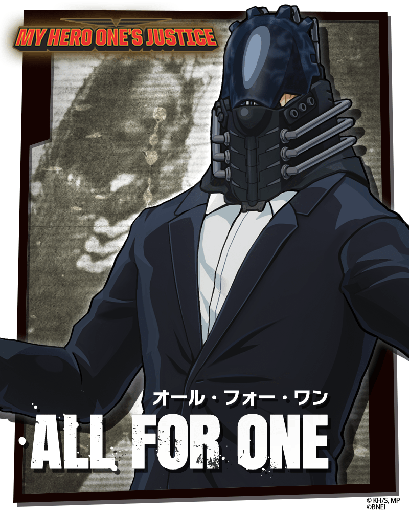 My Hero One's Justice, My Hero One's Justice, All for One nel roster