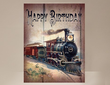 Train Birthday Card Yesterdays Best