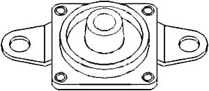Farmall Radiator, Mounting Bracket Plate for Farmall 1026