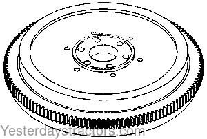 Oliver Flywheel, Less Ring Gear for Oliver 1655,White 2-70