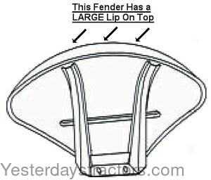 Ferguson Fender, Clamshell with Bracket for Ferguson FE35