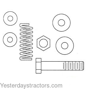 Ferguson Hydraulic Lever, Tension Bolt & Spring Kit for