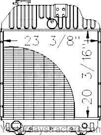 Massey Ferguson Radiator for Massey Ferguson 3070,3080