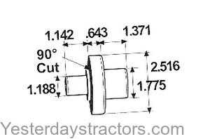 Massey Ferguson Axle Pivot Pin for Massey Ferguson 375,390