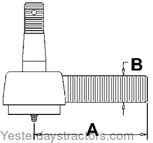 Farmall Tie Rod End for Farmall AV,AV1,A1,Super A