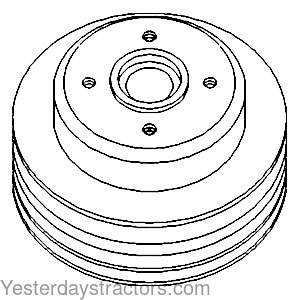 Massey Ferguson Water Pump Pulley, 3 Groove for Massey
