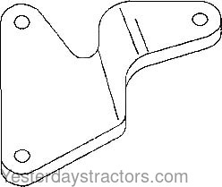Massey Ferguson 135 Alternator, Support Bracket, Front