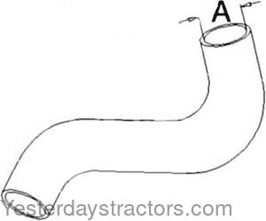 Allis Chalmers Radiator Hose, Lower for Allis Chalmers