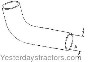 Massey Ferguson Radiator Hose, Water Pump to Cylinder