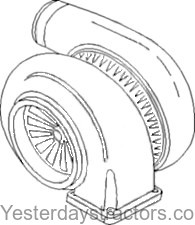 Allis Chalmers Turbocharger for Allis Chalmers 6060,6070