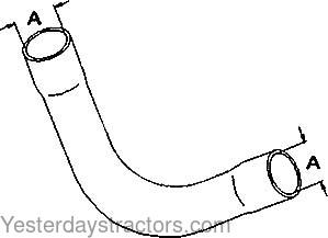 Ferguson Radiator Hose, Lower for Ferguson TEA20,TED20