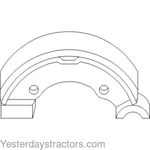 Ford Brake Shoe, Set of Two for Ford 1100,1110,1200,1210