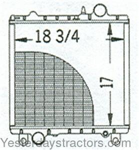 John Deere Radiator for John Deere 1850,1950,1950N,2155
