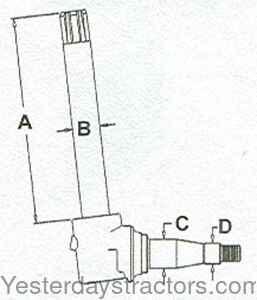 John Deere Spindle, Heavy Duty for John Deere 2510,2520
