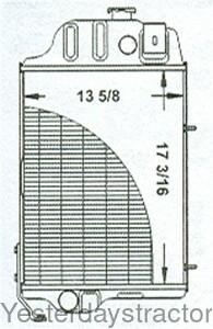 John Deere Radiator for John Deere 1020,1030,1130,1530