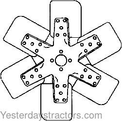 John Deere Fan, 6 Blade for John Deere 2020,2040,2150,2155