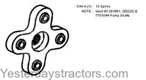 Ford Hydraulic Pump Hub for Ford 335,340,3400,340A,340B