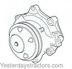 Ford Water Pump, with Single Pulley. for Ford 7810,7910