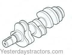 Ford Crankshaft, 3-Cylinder, 4.4 in. Stroke for Ford 3930