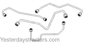 Massey Ferguson Injector Line Set, 4 Cylinder for Massey