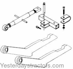 Farmall 2 Point Conversion Kit for Farmall